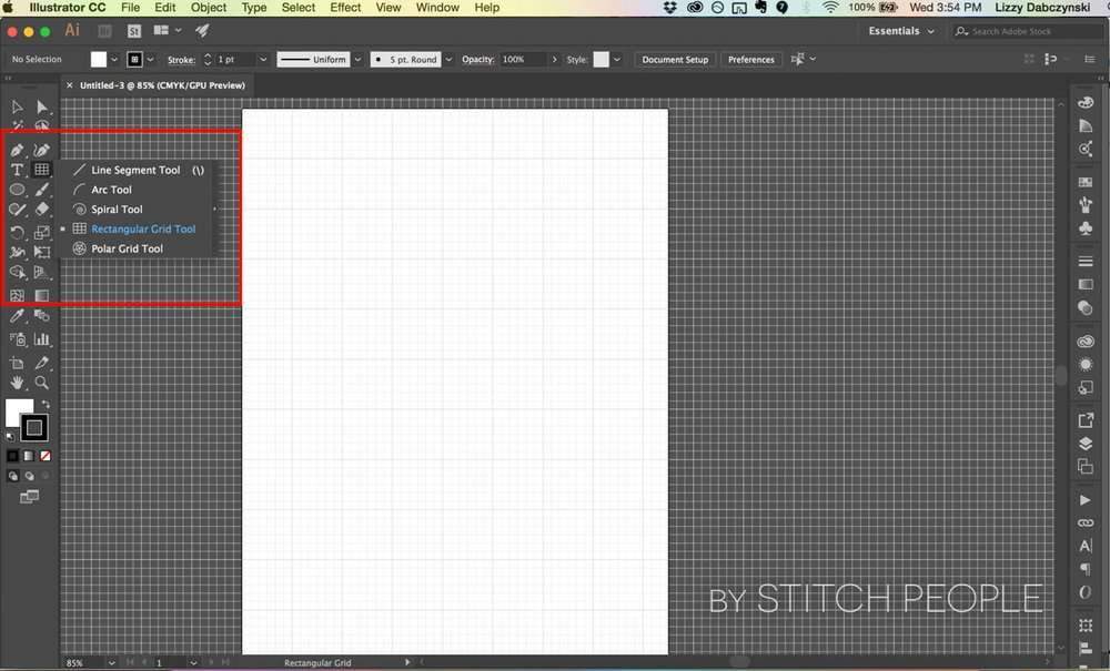 Creating graph templates for your Stitch People patterns using Adobe